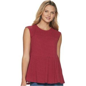 Juicy Couture NWT Sangria Tiered Tank Top